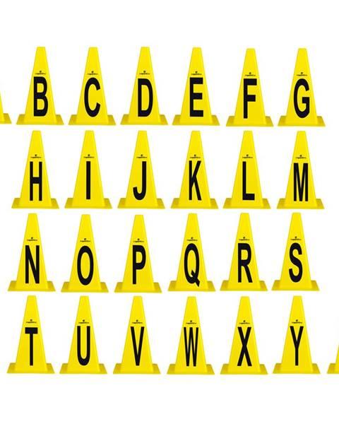 Insportline Plastové kužele inSPORTline Alphabet 23 cm