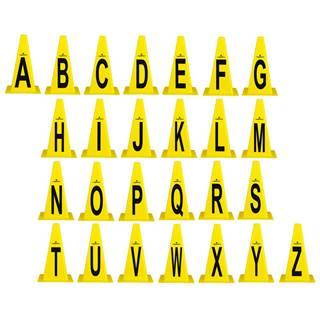 Plastové kužele inSPORTline Alphabet 23 cm