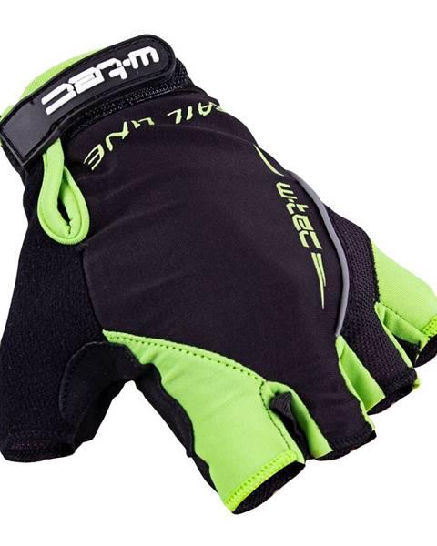 W-Tec Cyklo rukavice W-TEC Kauzality čierno-zelená - S
