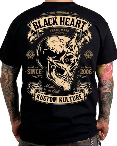 BLACKHEART Tričko BLACK HEART Devil Skull čierna - M