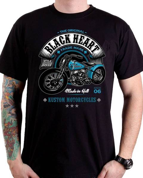 BLACKHEART Tričko BLACK HEART Style and Power čierna - M