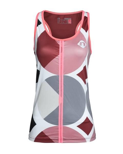 Newline Dámske bežecké tričko Newline Imotion - bez rukávov ružovo-šedá - S