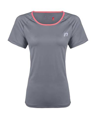 Dámske bežecké tričko Newline Imotion Tee - krátky rukáv šedá - XS