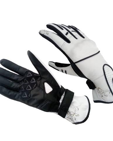 Dámske moto rukavice Spark Lady Nella biela - XL