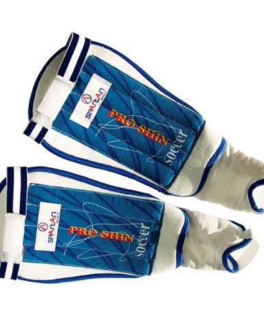 Futbalové chrániče Spartan Free kick bielo-modrá - S