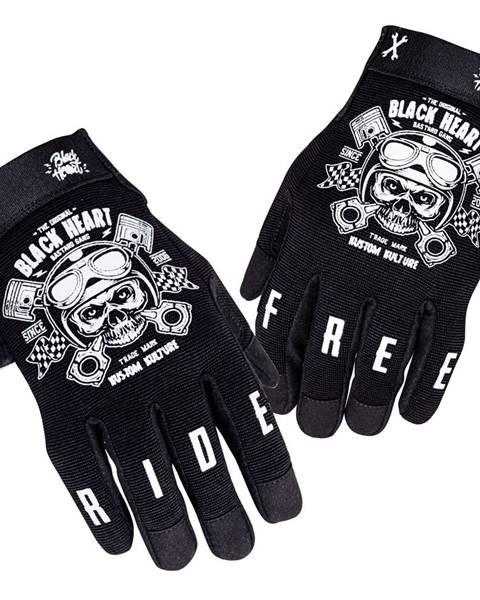 W-Tec Moto rukavice W-TEC Black Heart Piston Skull čierna - S