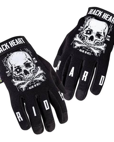 W-Tec Moto rukavice W-TEC Black Heart Web Skull čierna - S
