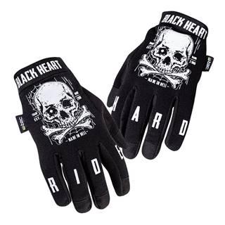 Moto rukavice W-TEC Black Heart Web Skull čierna - S