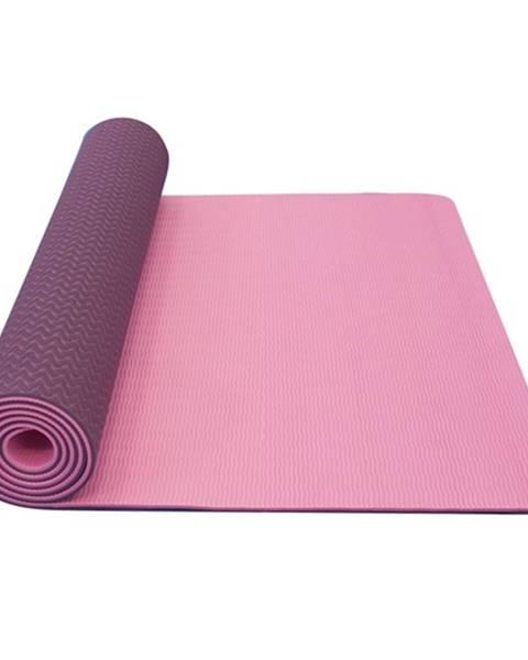 Yate Dvojvrstvová podložka Yate Yoga Mat TPE New 173x61x0,6 cm ružová