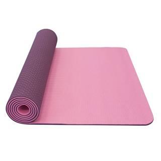 Dvojvrstvová podložka Yate Yoga Mat TPE New 173x61x0,6 cm ružová