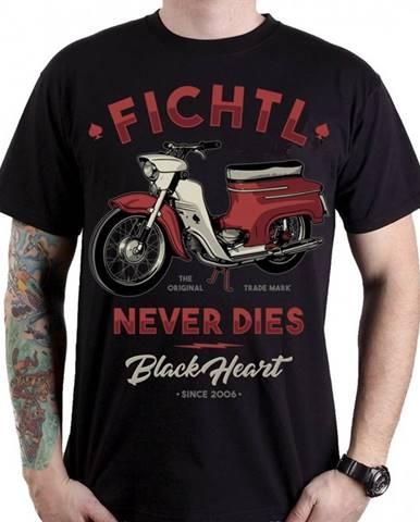 Tričko BLACK HEART Fichtl čierna - M