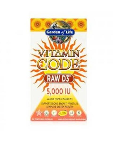 Garden of life Garden of Life Vitamín D3 - RAW - 5000IU 60 kapslí