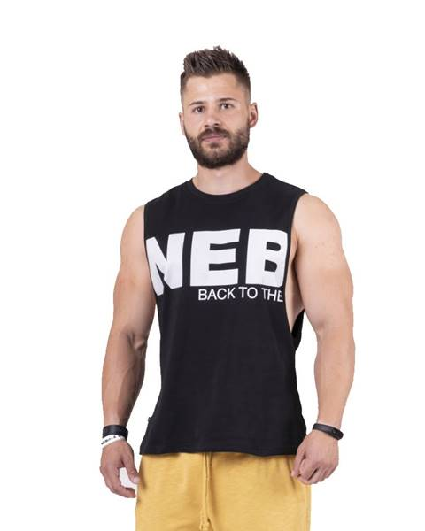 Nebbia Pánske tielko Nebbia Back to the Hardcore tank top 144 Black - L