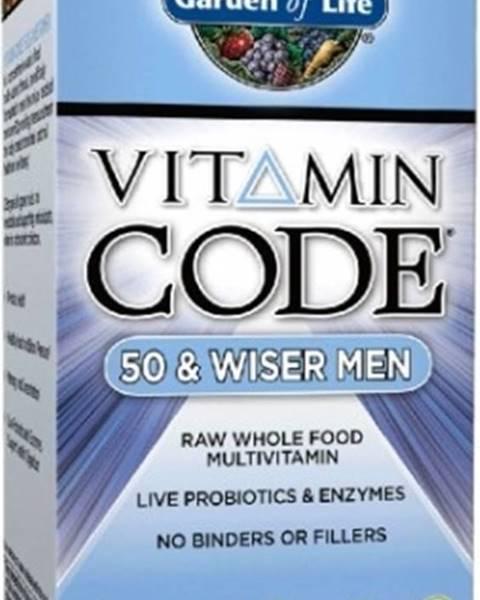 Garden of life Garden Of Life Vitamín Code 50 - pre Mužov po Päťdesiatke 120 kapsúl