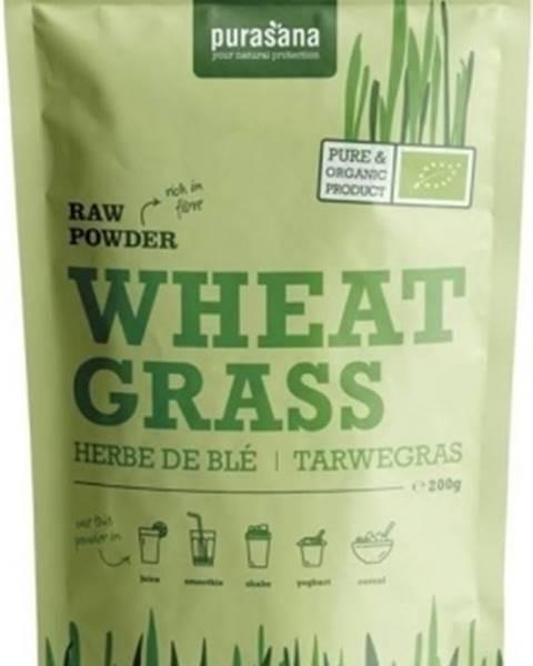 Purasana Purasana Wheat Grass Raw Powder (Európsky pôvod) BIO 200 g