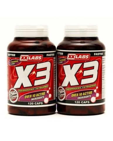XXLabs X3 Thermogenic Fatburner 120 kapsúl 1 + 1 ZADARMO