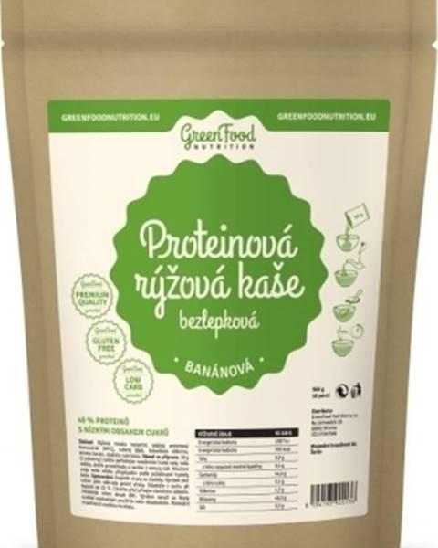 GreenFood GreenFood Proteínová ryžová kaša bezlepková 500 g variant: banán