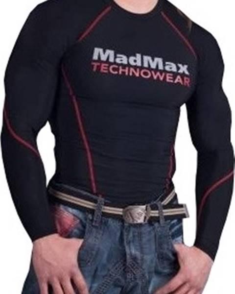 MadMax Madmax Kompresné tričko s dlhým rukávom MSW902 čiernočervené variant: L