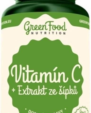 GreenFood Vitamín C + Extrakt zo šípok vegan 60 kapsúl