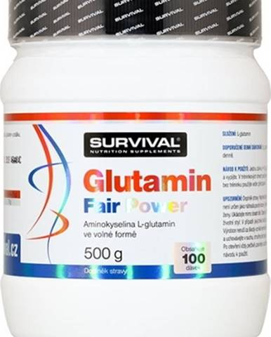 Survival Glutamín Fair Power 500 g