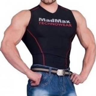 Madmax Kompresné tričko bez rukávov MSW904 čiernočervené variant: L