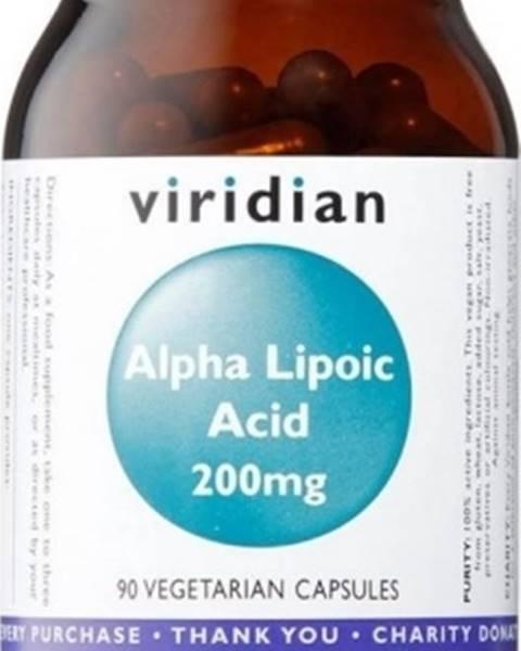 Viridian Viridian Alpha Lipoic Acid 200 mg (Kyselina alfa lipoová - ALA) 90 kapsúl