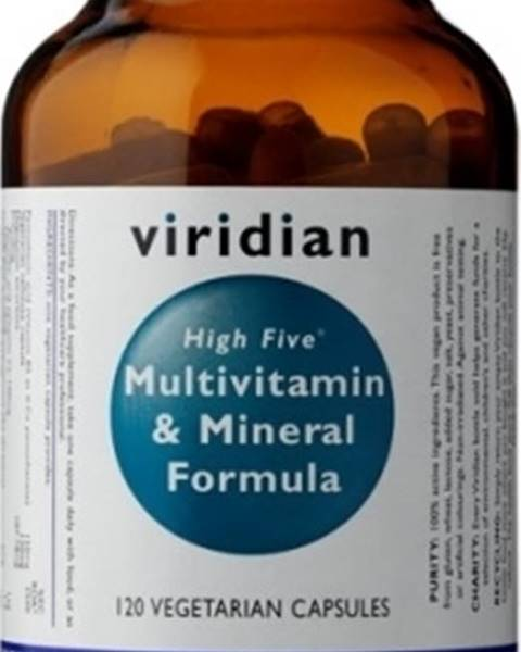 Viridian Viridian High Five Multivitamín & Mineral Formula 120 kapsúl