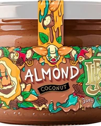 Lifelike Mandle s kokosom a 100% čokoládou 300 g