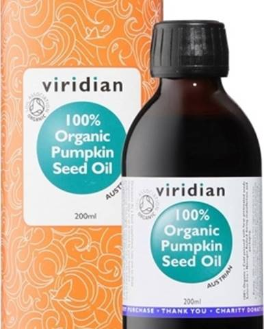 Viridian Pumpkin Seed Oil Organic (Olej z tekvicových semienok Bio) 200 ml