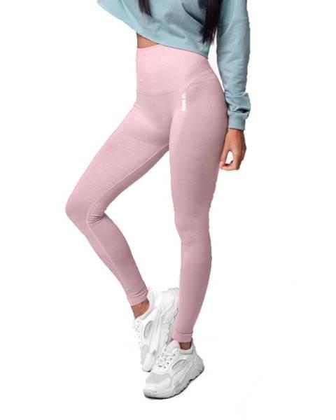 Boco Wear Dámske legíny Boco Wear Coral Cloud Melange Shape Push Up svetlo ružová - XS/S