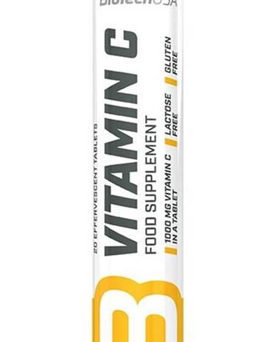 Vitamín C 1000 šumivý - Biotech USA 20 tbl. Lemon