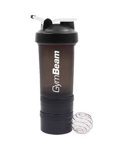 GymBeam Viacdielny šejker Blend Bottle Black White 600 ml