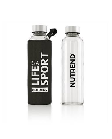 Sklenená flaša s termo obalom Nutrend Active Lifestyle 500 ml čierna
