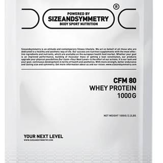 Sizeandsymmetry Whey 80 CFM 1000 g variant: čokoláda