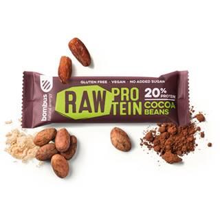 BOMBUS Raw protein bar 50 g arašidové maslo
