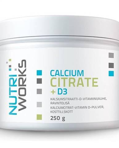 NutriWorks Calcium Citrate + D3 250 g