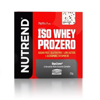 Nutrend ISO Whey ProZero 25 g variant: čokoláda - brownie