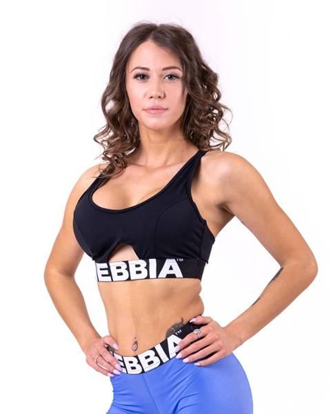 Nebbia NEBBIA Športová podprsenka Athletic Cut Out Black  XS