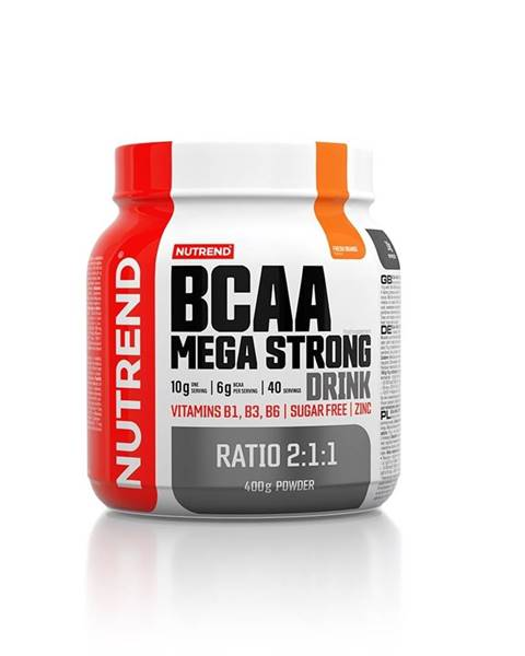 Nutrend Aminokyseliny Nutrend BCAA Mega Strong Drink (2:1:1) 400g pomaranč