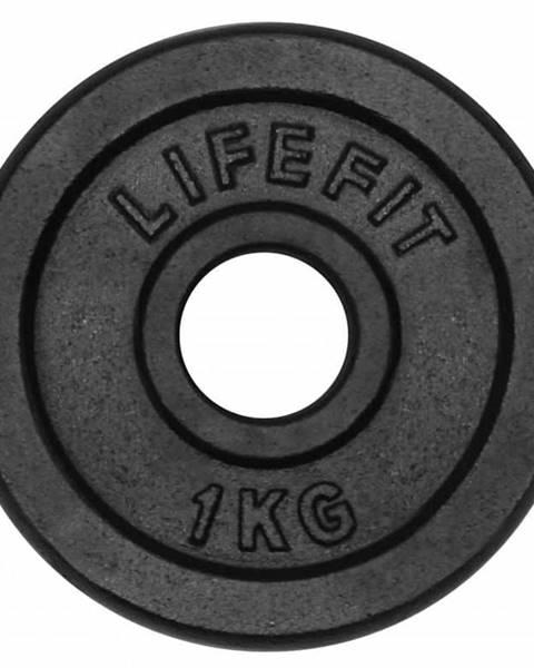 Lifefit Kotúč LIFEFIT 1,0kg, kovový, pre 30mm tyč