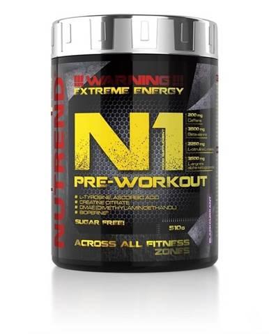 NUTREND N1 Pre-Workout 510 g červený pomaranč